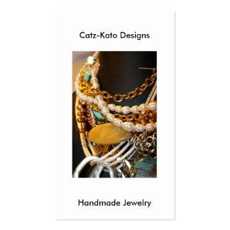 Handmade jewelry business cards templates zazzle for Handmade jewelry business cards