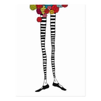 Skinny Legs Postcard