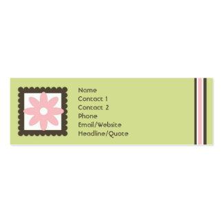 Skinny Mini Daisy Stripes Calling / Mommy Card