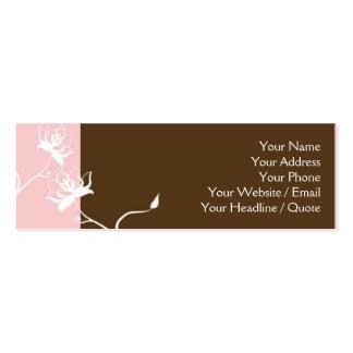 Skinny Mini Modern Chocolate Calling Card