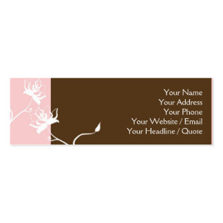 Skinny Mini Modern Chocolate Calling Card Business Cards