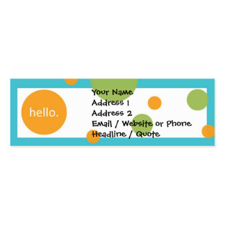 Skinny Mini Modern Dots Profile Calling Card Business Card Templates