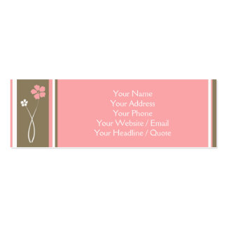 Skinny Mini Modern Floral Calling Business Card