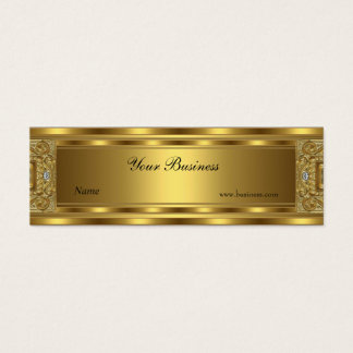 Skinny Ornate Gold Elegant Classy Mini Business Card