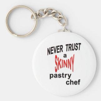 Skinny Pastry Chef Keychain