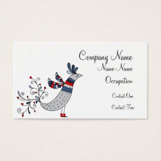 Skinny Patriotic Bird Business Card