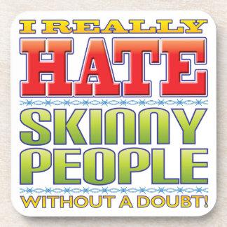 Skinny People Hate Beverage Coaster