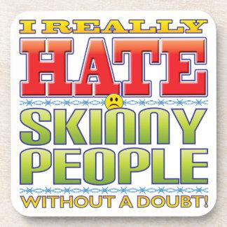 Skinny People Hate Face Beverage Coasters