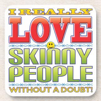Skinny People Love Face Beverage Coaster