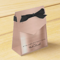 Skinny Pink 1 Metallic Name Branding Beauty Salon Favor Box