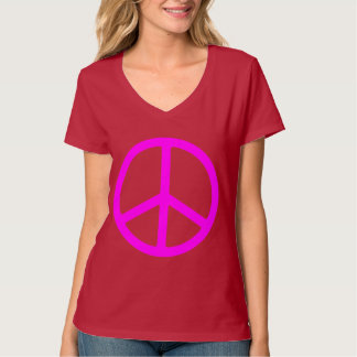Skinny Pink Peace Sign T-Shirt