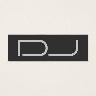 Skinny Plain DJ Stylish Gray Background Modern Mini Business Card