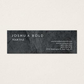 Skinny Plain Grey Texture Professional Modern Mini Business Card