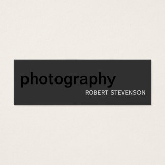 Skinny Plain Photography Grey Black Business Card