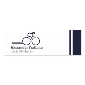 Skinny professional cycle business cards