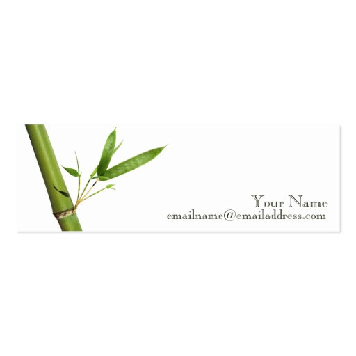 Skinny Profile Card Bamboo Double Sided Mini Business