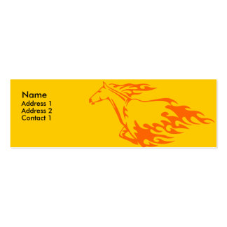 Skinny Profile Card - Flaming Horse Business Card Templates