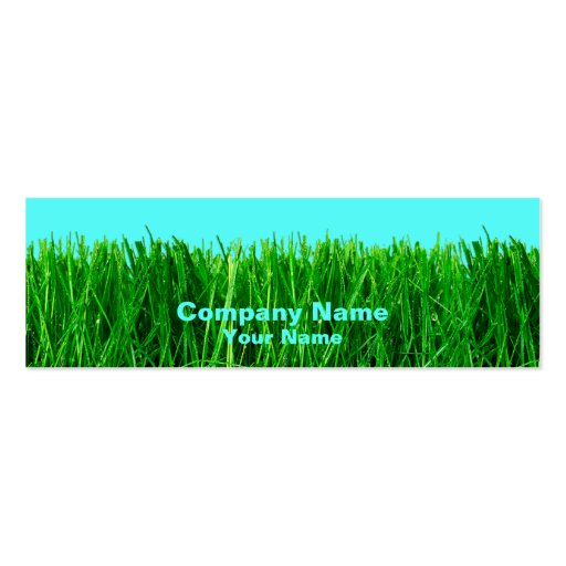 Skinny Profile Card - Grass Business Card Templates