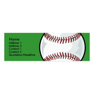 Skinny Profile Card Template - Baseball