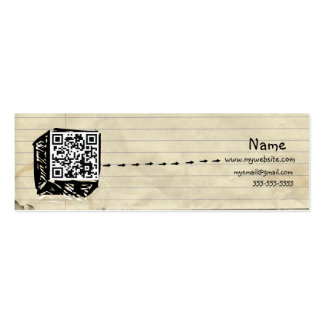 Skinny QR Code Business Card