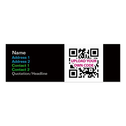 Skinny QR Code Business Cards