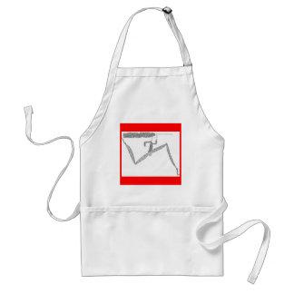 skinny runner adult apron