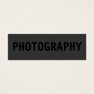 Skinny Simple Black Out Photographer Business Card