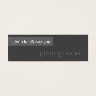 Skinny Size Grey Trendy Photography Business Card