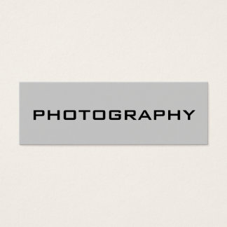 Skinny Size Modern Grey Photography Business Card