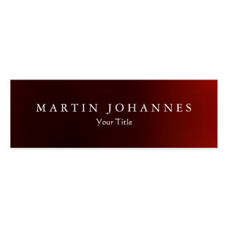 Skinny slim dark red professional business card