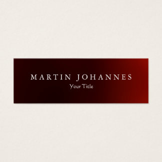 Skinny slim dark red professional business card