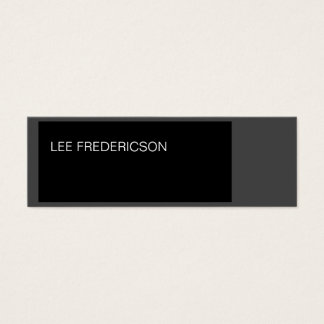Skinny Slim Grey Black Simple Plain Business Card