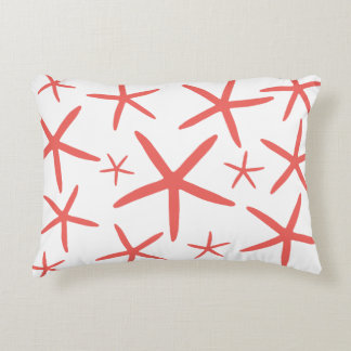 Skinny Starfish | Coral Decorative Pillow