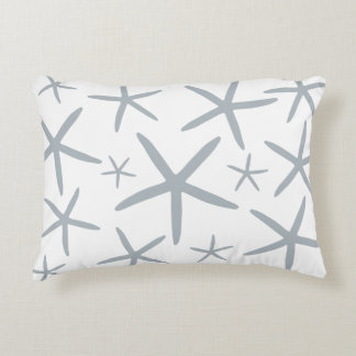 Skinny Starfish | Silver Gray Accent Pillow