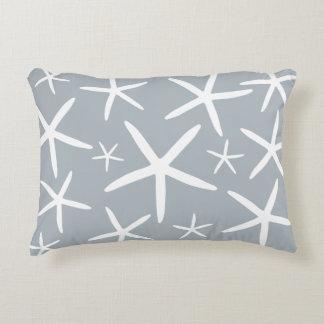 Skinny Starfish | Silver Gray Decorative Pillow