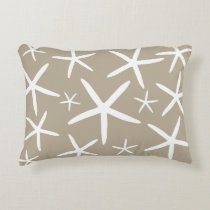 Skinny Starfish | Tan Sand Decorative Pillow