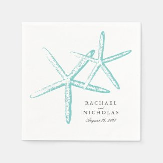Skinny Starfish | Wedding Paper Napkin