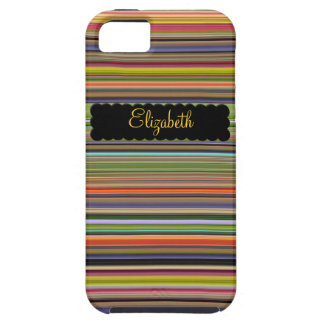 Skinny Stripes Personalized iPhone SE/5/5s Case