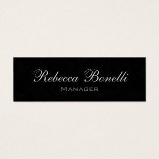 Skinny Stylish Gray Black Manager Business Card