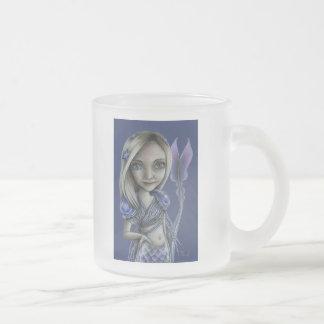 Skinny Tail Frosted Glass Coffee Mug