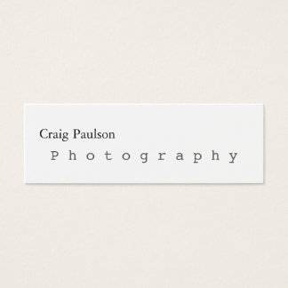 Skinny Trendy Photography White Business Card