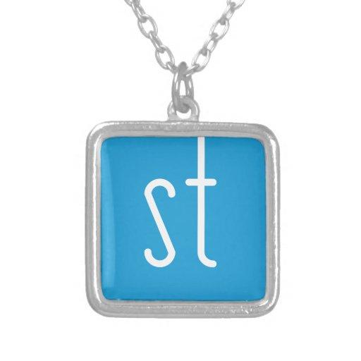 Skinny Twinkie Necklace - Blue