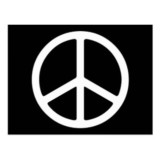 Skinny White Peace Symbol Post Cards