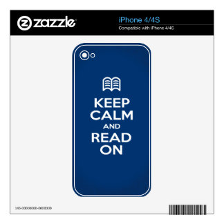 Skins and Covers - Keep Calm and Read On Skins For iPhone 4S