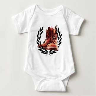 skins boots baby bodysuit