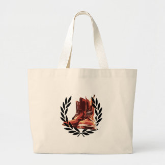 skins boots tote bag