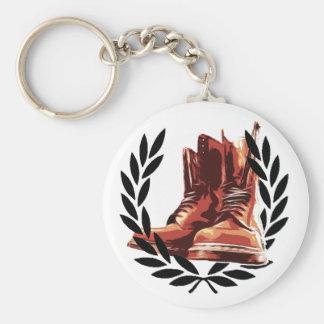 skins boots basic round button keychain