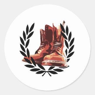 skins boots classic round sticker