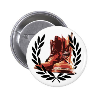 skins boots pinback button