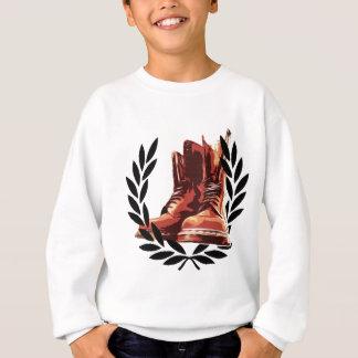 skins boots sweatshirt